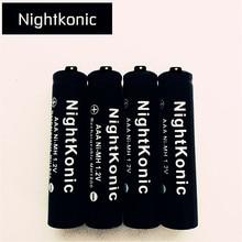 цена на Original ( Battery Number : 10 ) Nightkonic  1.2V 900mAh AAA Battery NI-MH  Rechargeable Battery  BLACK