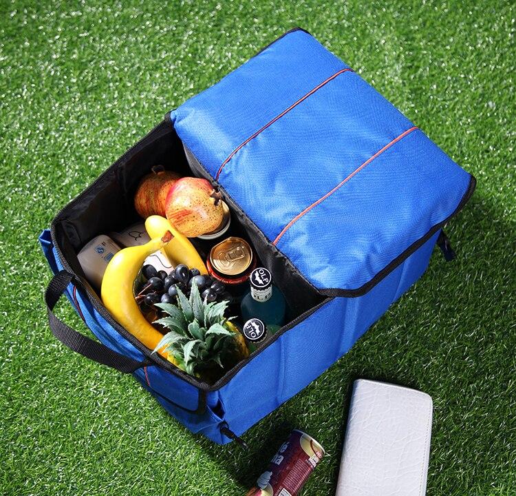 EntrüCkung Neuheiten Hohe Qualität Faltbare Kühltaschen Auto Große Kapazität Eisbeutel Isolierung Tasche Multifunktionale Isolierte Kühltasche