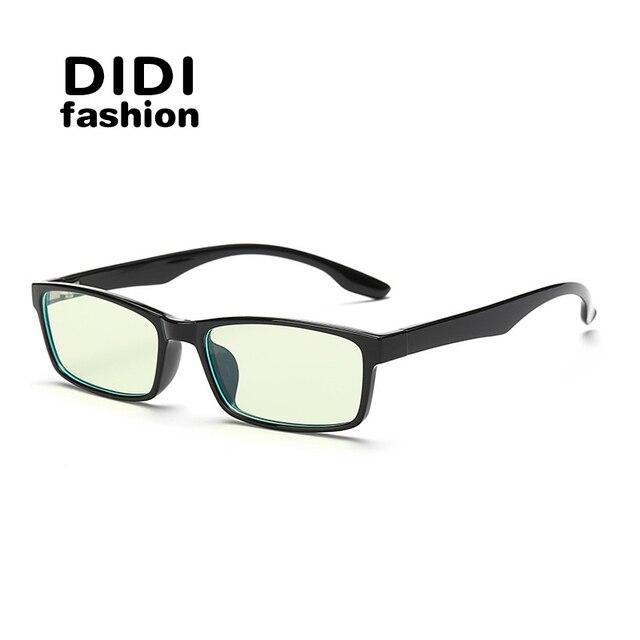 DIDI New TR90 Titanium Eyeglasses For Lovers Yellow Lens Anti Blue Ray PC Gaming Glasses Rectangle Optical Eyewear Frame U263