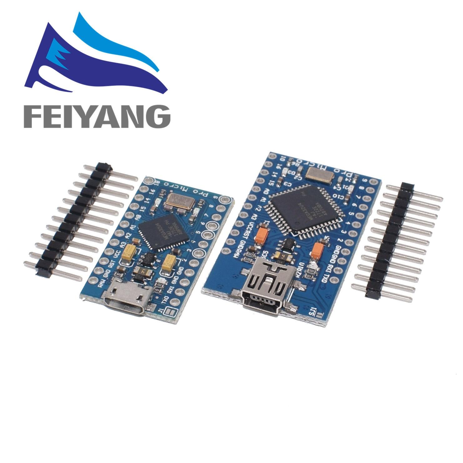 100PCS Pro Micro ATmega32U4 5V 16MHz Replace ATmega328 For arduino ATMega 32U4 Pro Mini With 2