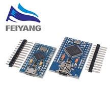 100PCS Pro Micro ATmega32U4 5V 16MHz Sostituire ATmega328 Per arduino ATMega 32U4 Pro Mini Con 2 di Fila spille Un Colpo di Testa