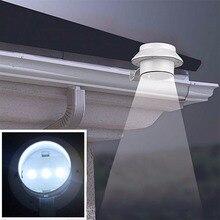 3 светодиодный энергосберегающий светильник на солнечной батарее для наружного сада, ландшафта, двора, забора, стена желоба, крыша, задний светильник, ручная лампа