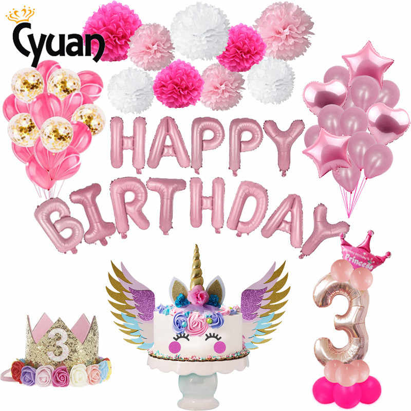 Verwonderlijk 3rd Verjaardag Roze Meisje Nummer Verjaardag Helium Ballonnen 3 RH-72
