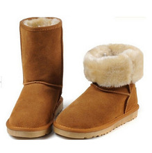 Snow Boots Classic Australia 5852 women boots waterproof cowhide genuine leather snow boots warm winter shoes for women