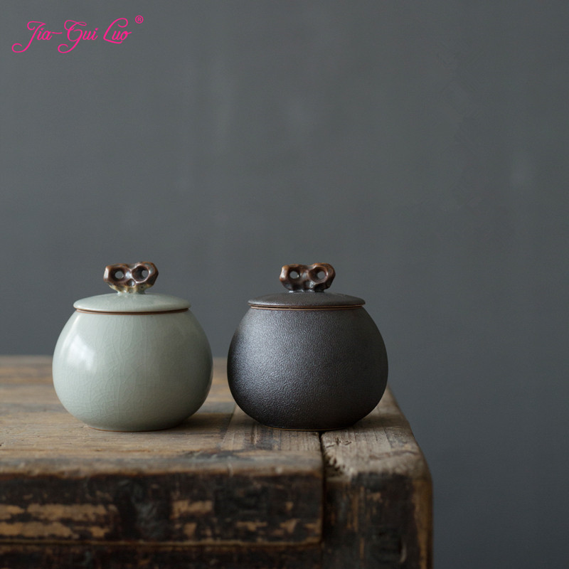 JIA-GUI LUO Ceramic Tea Box Ceramic Jar  Tea Storage Box  Tea Container  Kitchen Canisters  Canister Set  Tea Canister D122