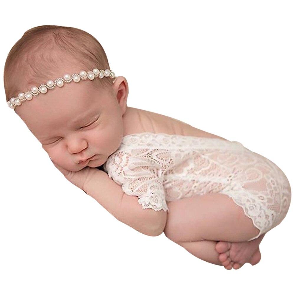 Aktiv Neue Mode Mädchen Top Neugeborenen Baby Mädchen Fotografie Zubehör Prop Spitze Spielanzugoverall Princes Mädchen Shirts Kleidung