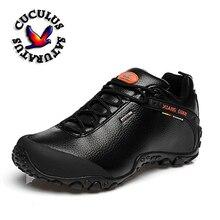 XIANG GUAN Outdoor Waterproof Hiking Shoes Men Women Genuine Leather Climbing Shoes Men Walking Shoes trekking