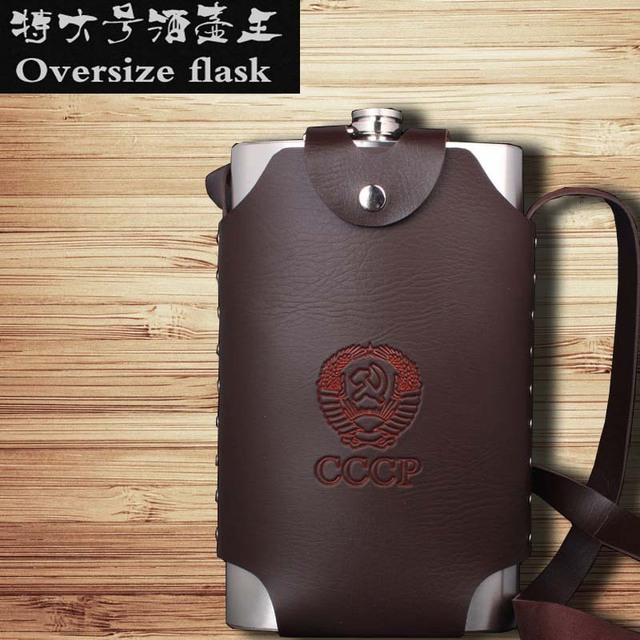 Jumbo 64oz Russia's oversized hip flask stainless steel Water bottle Free shipping