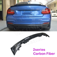 2 Series Carbon fiber Rear Bumper Diffuser Lip Spoiler Protector Guard for BMW F22 M Sport M235i 240i 220i 2013 2018 E type