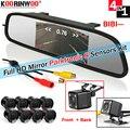Koorinwoo электромагнитный автоматический датчик отдачи  парковочный датчик с камерой  Парктроник  8 сенсоров s  фронтальная и задняя глухой дат...
