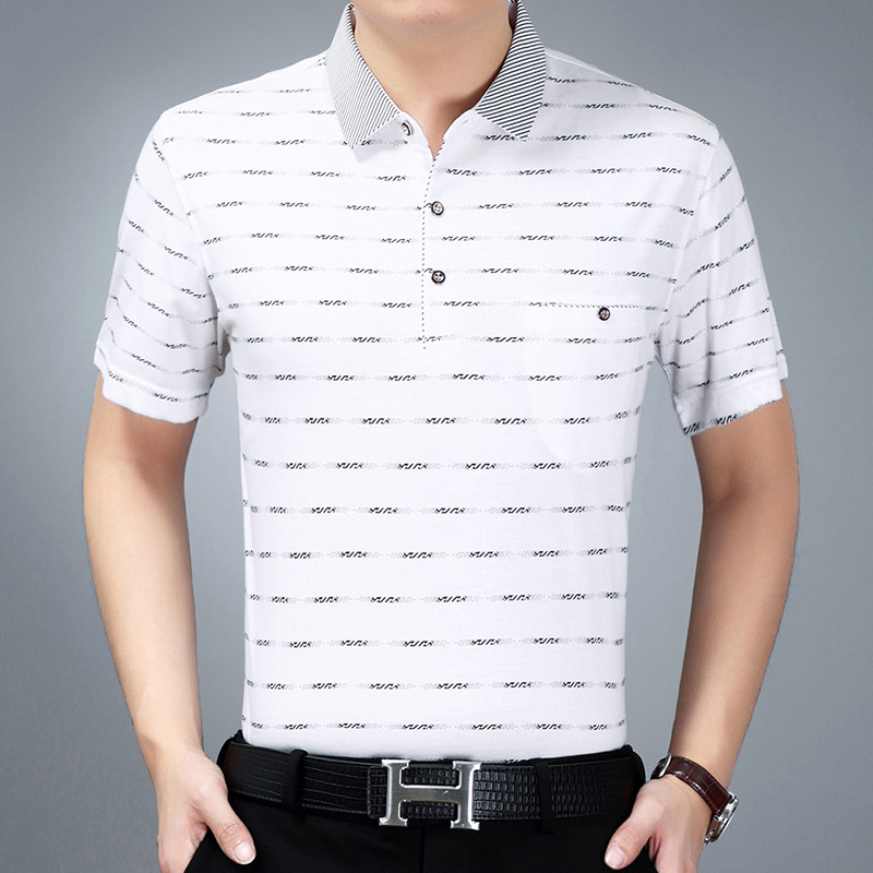 Summer Fashion Cotton Pocket Men Polo Shirts Short Sleeve Stripe Slim Fit Soft Wine Red White Blue Gray Male Shirts Camiseta