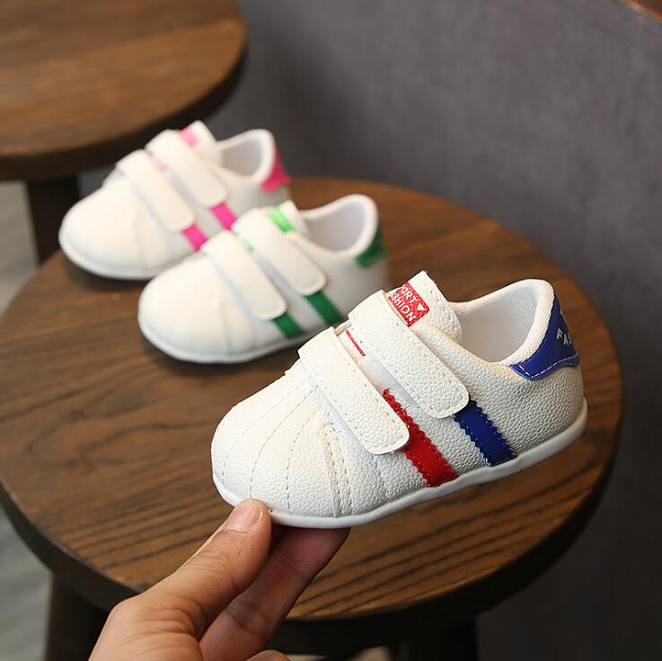 Spring Autumn Baby Girls Boys Casual Shoes Pachwork Pu Toddler Shoes 0-1.5years 15-19 1806 TX09