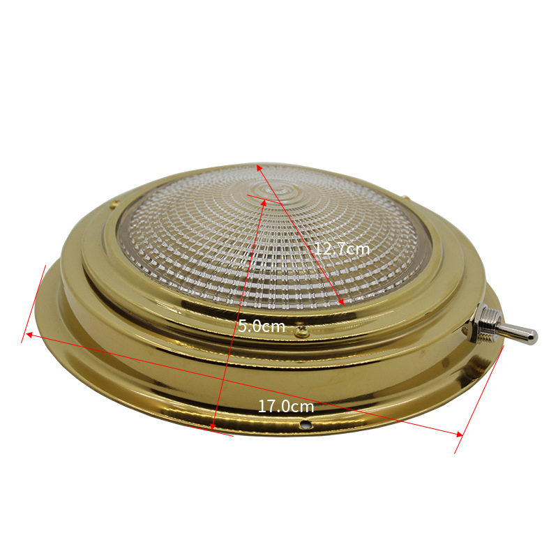 Image 3 - Brass Car Interior Dome light 137MM Base Marine Boat Yacht 3W Warm White LED Light 8 30V DC-in Marine Hardware from Automobiles & Motorcycles