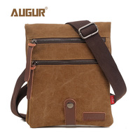 AUGUR Brand Vintage Military Men Messenger Bag Crossbody Bag Multifunction Canvas Single Mini Shoulder Bags Small