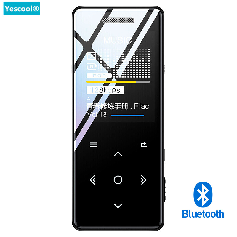 Yescool X5 8G hifi Bluetooth MP3 player Built-in speaker lossless Music Player Support video audio Recorder FM E-book TF walkman