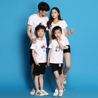 Summer New Pattern Fashion Superman Parenting Dress Summer Wear Home Four Mouth Mother Son Mother Daughter