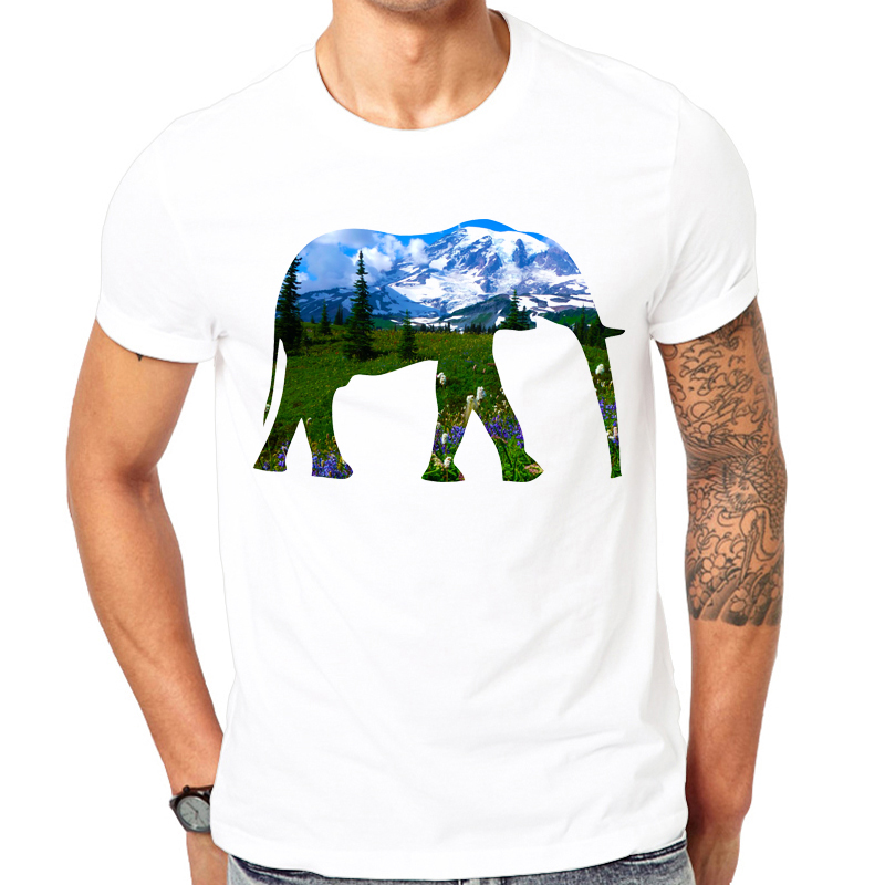 Elephant Mountain font b Men b font t shirt 2017 font b Men b font Fashion