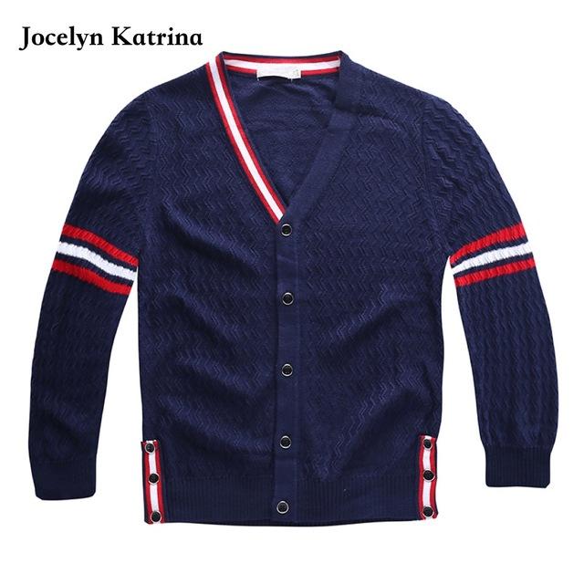 Jocelyn Katrina Nuevos Suéteres Niños Escuela Otoño Suéter Cardigan Abrigos Casual Niños Bebés Chaquetas Para Niños Abrigos Calientes