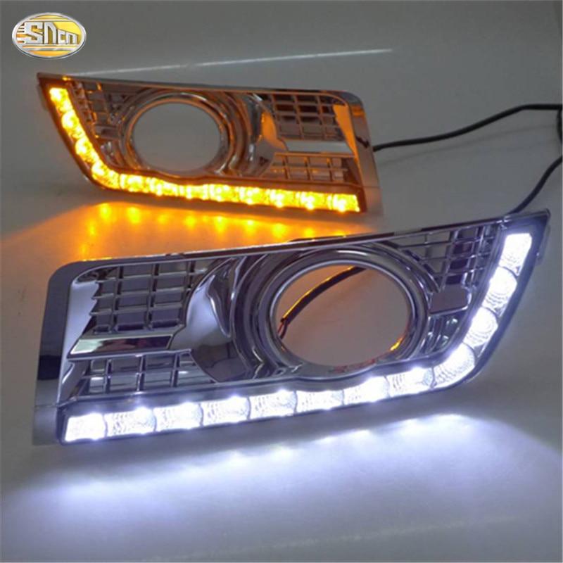 SNCN LED Daytime Running Lights For Cadillac SRX 2016 2015 2014 2013 2012 DRL fog lamp cover driving lights sncn led daytime running lights for suzuki swift 2013 2014 2015 2016 drl fog lamp cover 12v abs