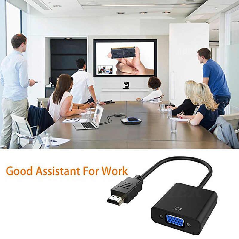 COOLJIER HDMI a VGA convertidor de Cable Digital analógico HD 1080P para ordenador portátil tableta HDMI macho a VGA adaptador de convertidor famoso