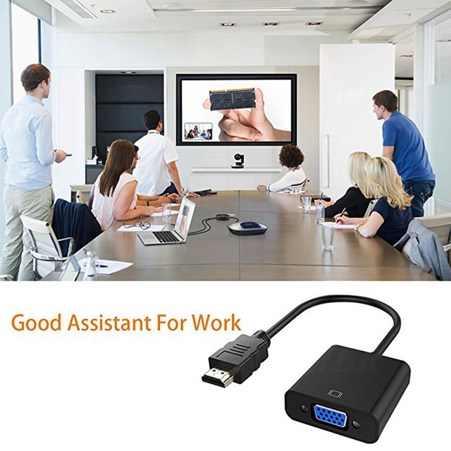 COOLJIER HDMI to VGA Cable Converter Digital Analog HD 1080P For PC Laptop Tablet HDMI Male To VGA Famale Converter Adapter 3