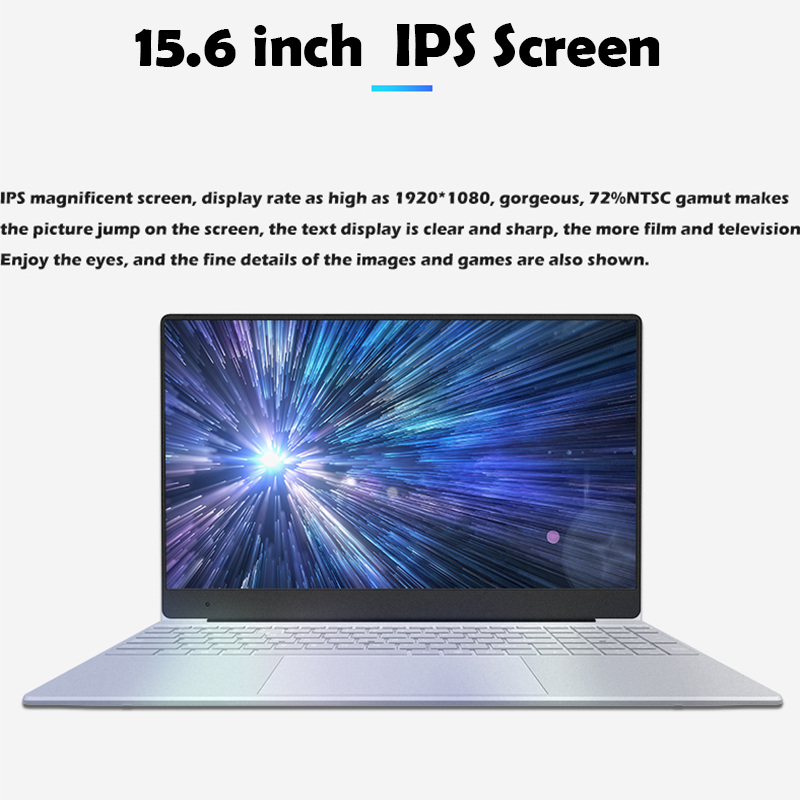 15 6 inch Laptop 8GB RAM Laptop 128GB 256GB 512GB SSD Intel Celeron J3455 1080P FHD display Windows 10 PRO Full Layout Keyboard in Laptops from Computer Office