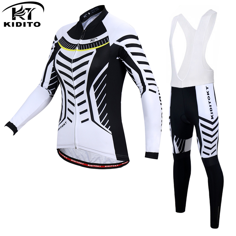 KIDITOKT Wallis Women Autumn Cycling Jersey Set Breathable Clothing Bicycle Wear Ropa Ciclismo Long Sleeve cycling Clothes