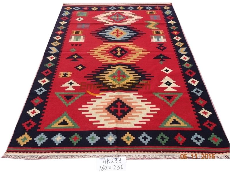 handmade wool kilim rugs living room rug bedroon bedside blanket corridor Mediterranean AK23B 5.25x7.55 gc6kliyg5