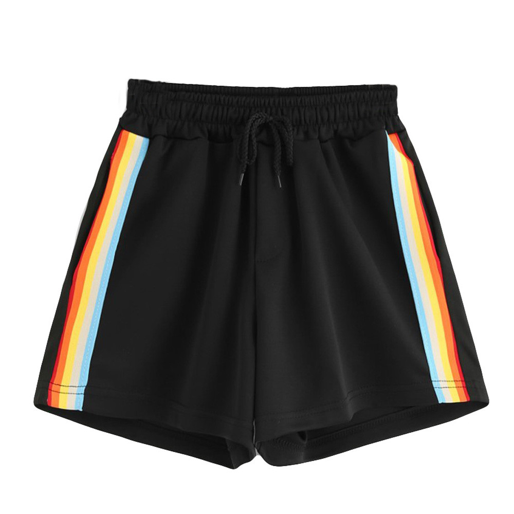 Shorts Women Ladies Summer Shorts Szorty Damskie Korean Style Women 2019 Short Feminino Femme Rainbow Shorts Mujer Gym Clothing