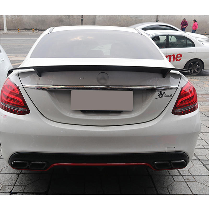 For <font><b>Mercedes</b></font> Benz W205 4-door C180 C200 C300 C63 RT Style Spoiler high quality Carbon Fiber Rear Tail Spoiler 2015-2017 image