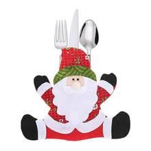 Decoración casera creativa partido Set tenedor herramienta de  almacenamiento de sombrero de Navidad decoración decoraciones de d8158dfb512
