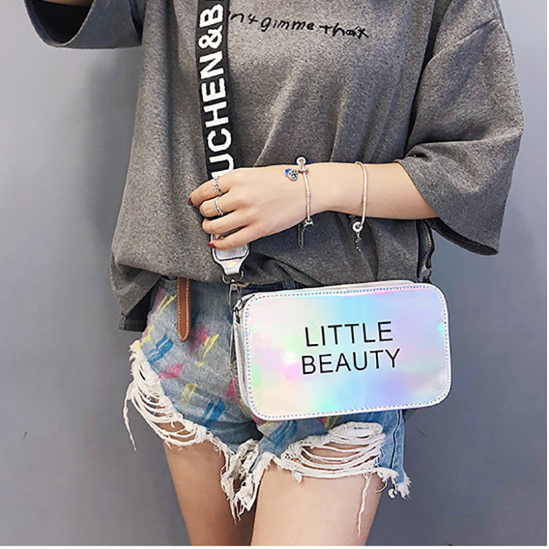Summer Fashion Personality Shoulder Bags Womens' Pouch Colorful Laser Bags For Women 2019 Female Crossbody Bags