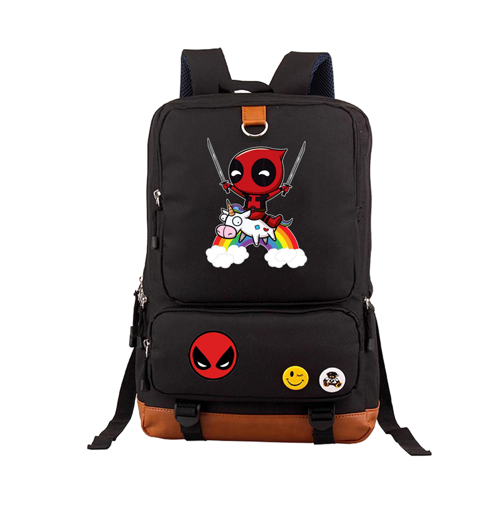 Deadpool Backpack Superheros Shoulder Bag For Teenagers Travel Rucksack School Backpack book Bags Satchel Mochila 17 fashion women leather backpack rucksack travel school bag shoulder bags satchel girls mochila feminina school bags for teenagers