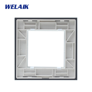 Image 5 - WELAIK EU Wall Switch DIY Parts Glass Panel Only Wall Light Switch Crystal Glass Panel Square hole  A18W/B1