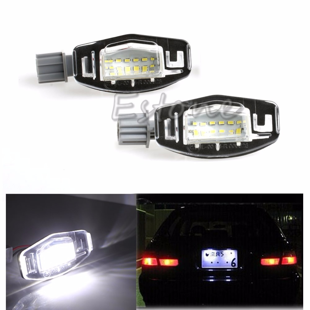 HNGCHOIGE 2x License Plate LED Light Lamp For Honda Accord