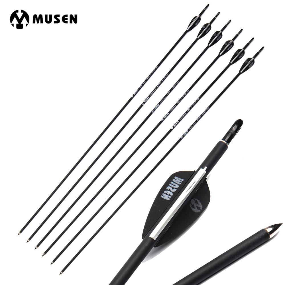 Carbon-Arrow-Diameter Archery Arrows Vanes Spine 700 Recurve/compound 30-Inches 7mm