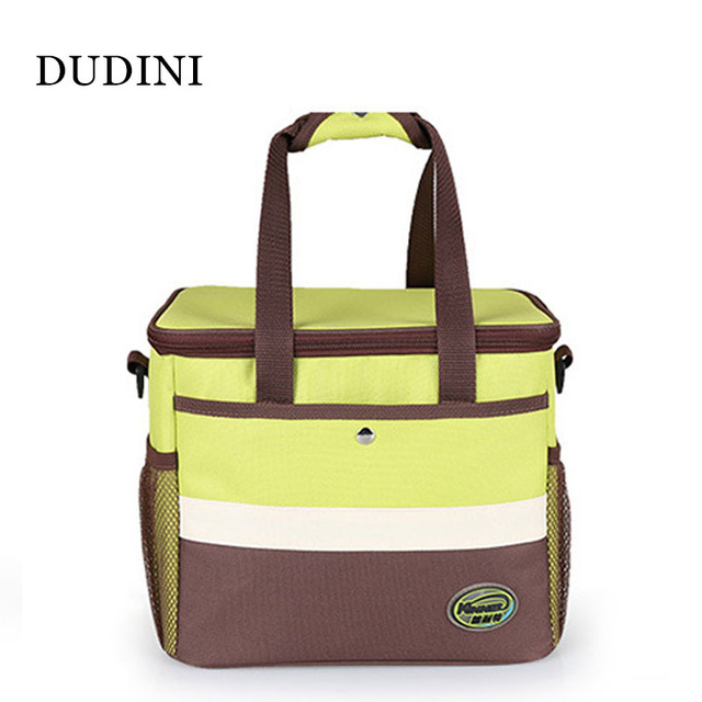 DUDINI Green Portable Lunch Bag Multifunction Large Capacity Lunch Bags For Women Oxford Cloth  Waterproof Insulation Picnic Bag