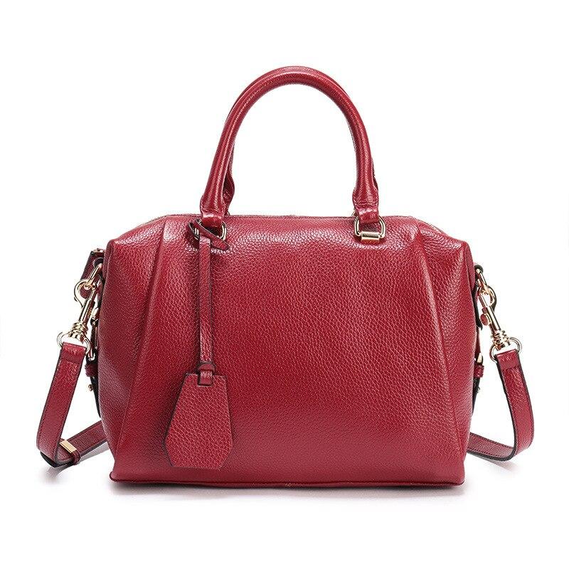 Genuine Leather Women Luxury Handbags Ladies Totes Shoulder Bags Female Messenger Crossbody Bags Fashion Pillow Boston Bag 2018