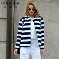 Veri Gude Women Faux Fur Coat  Striped Tops Warm for Winter