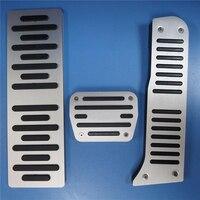TTCR II Car accessories Aluminum Footrest Accelerator Gas Brake Refit Pedals Pad For Audi A3 Q1 Q3 TT AT Decoration Stickers