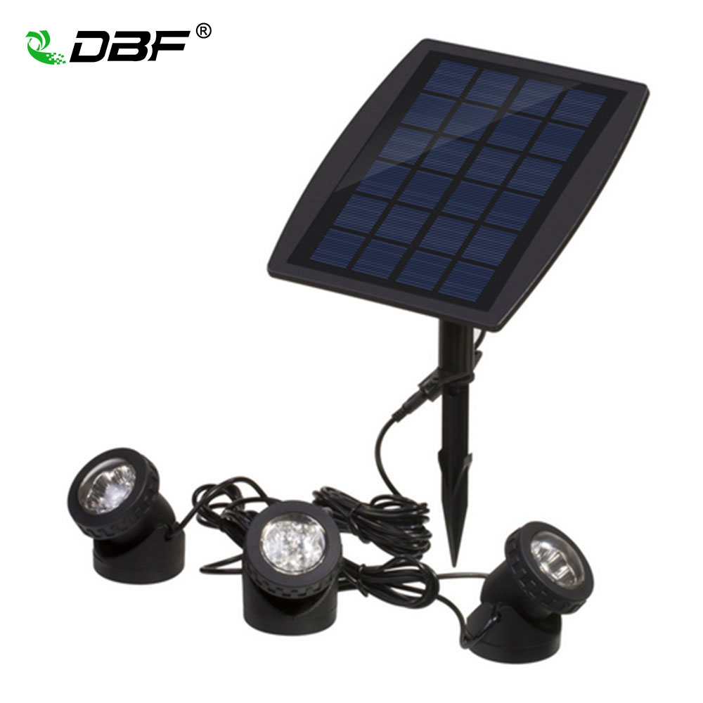 Led underwater solar light with Solar Powered 3 Bulbs Submarine Spotlight 18LEDS RGB Garden Pool Pond Lamp Underwater Lights