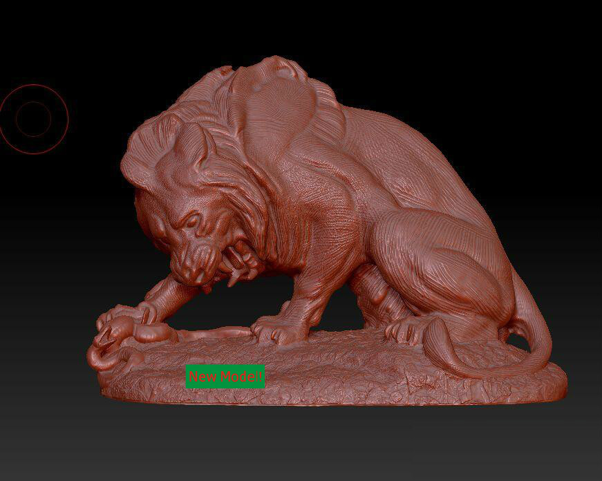3D model stl format, 3D solid model rotation sculpture for cnc machine Lion hunt martyrs faith hope and love and their mother sophia 3d model relief figure stl format religion for cnc in stl file format