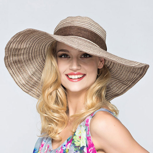 57f98ff5e2b Ladies Straw Hats Beach Adults Tricycle Summer Womens Hats Girls Hats Adult  Casual Solid Beach Please Floppy Sun Flat Visor Cap -in Sun Hats from ...