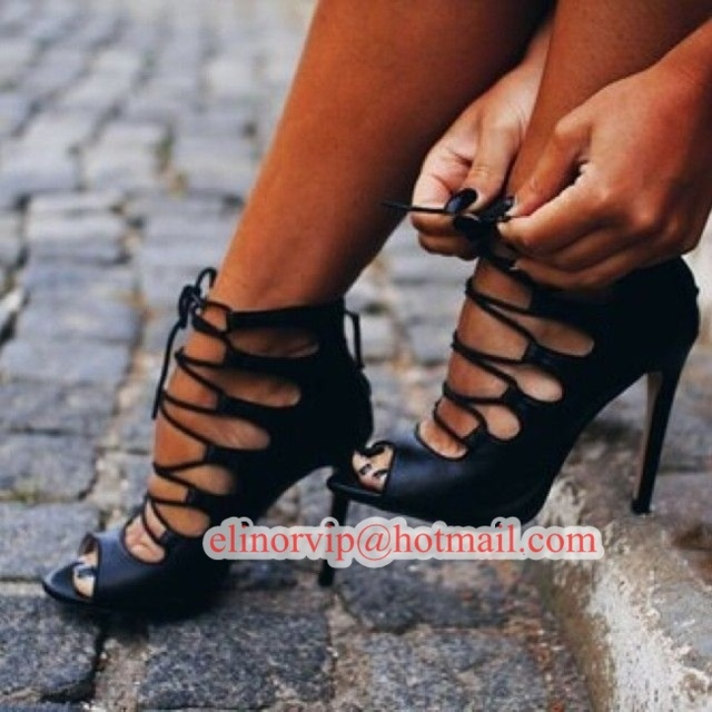 d52b6ab8b62 Big Size 10 Fall new women lace up strappy wrap peep toe cut out high heel  gladiator sandal bootie shoes stiletto heel pump