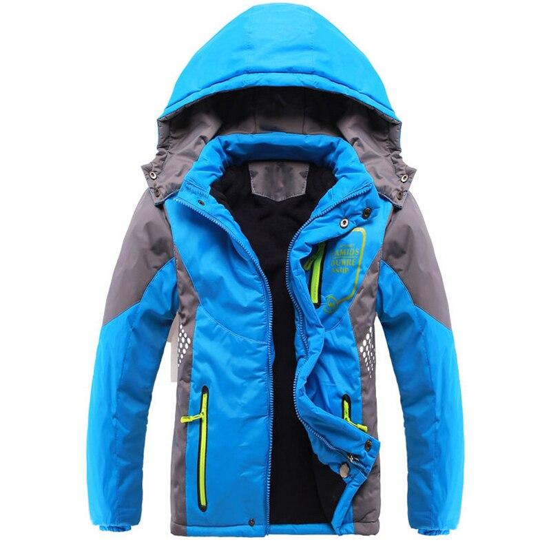 Çift katlı Su Geçirmez Erkek Kız Ceketler Çocuk Kabanlar Sıcak Coat Sportif Çocuk Giysileri 2016 Çocuklar Yeni Gelenler Kış