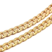 Mens Jewelry 18k Yellow Gold Filled Cuban Chain Male Necklace