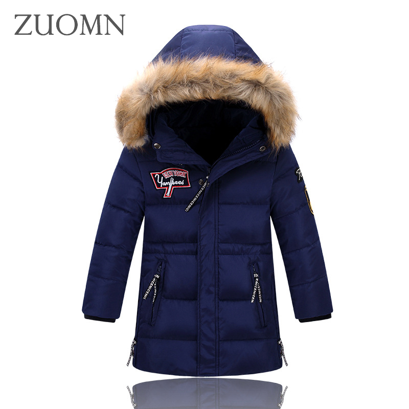 Down Jacket For Boys Winter Kids Outerwear Boys Casual Warm Hooded Jacket Winter Down Coat Thickening Outerwear Y794 2017 new boys winter thick warm coat kids school hooded casual jacket kid snow outerwear down cotton padded winter coats clothes