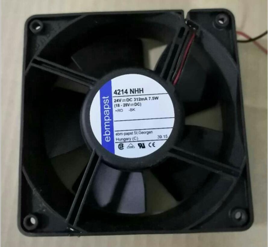 ebmpapst 4214NHH Server Cooler Fan DC 24V 7.W 2-wrie 120x120x38mm ebmpapst 4214NHH Server Cooler Fan DC 24V 7.W 2-wrie 120x120x38mm