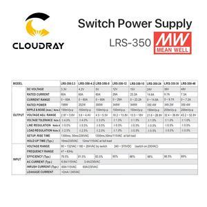Image 5 - Meanwell alimentation électrique Meanwell LRS 350, 12V, 24V, 36V, 48V, 350W, MW, marque taïwanaise, LRS 350 24