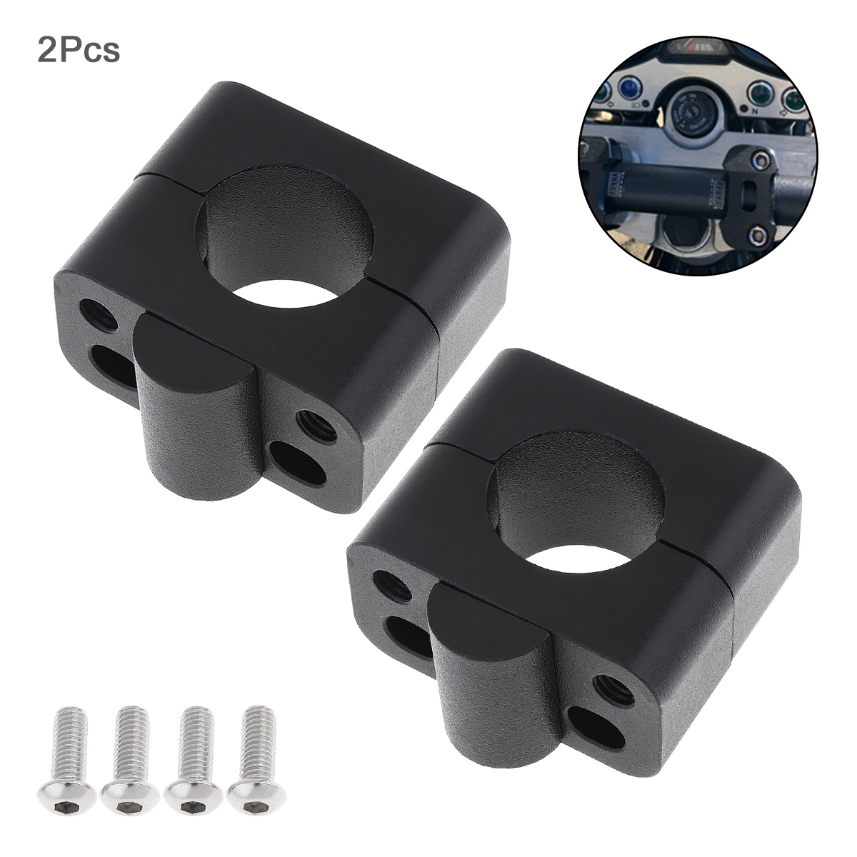 2pcs Motorcycle Handlebar Mounting Fixture Adapter 5.6CM Installation for Motorbike